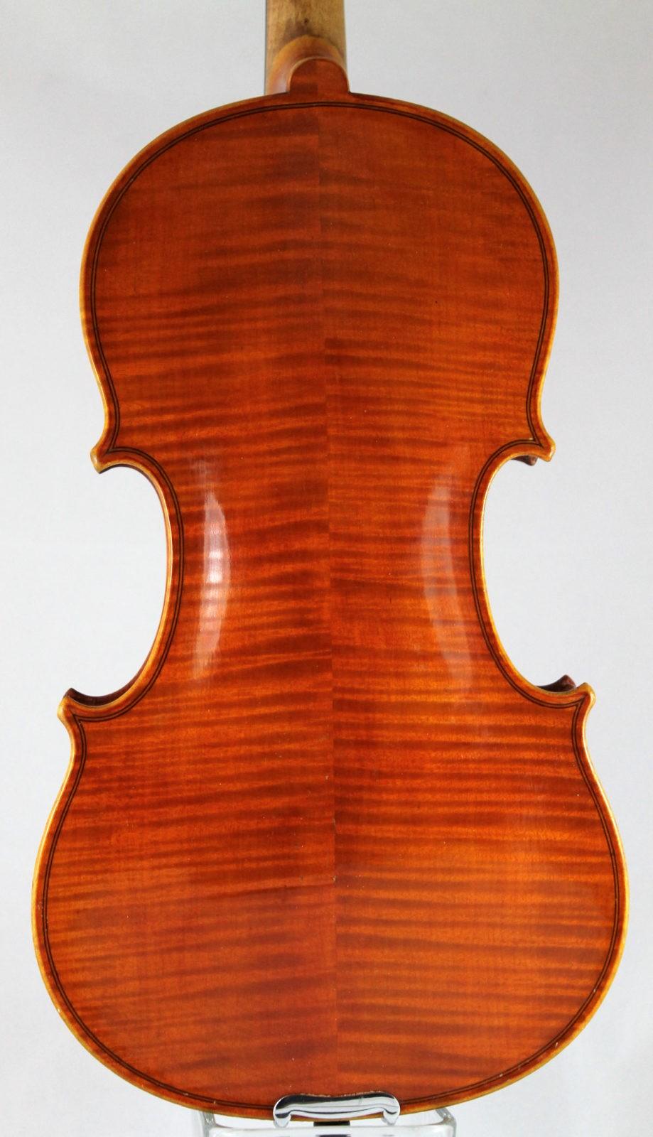 Heinrich Th Heberlein Jr violin - back