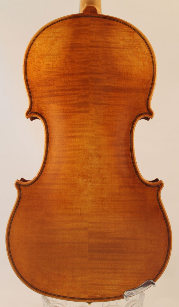 Eugene Langonet violin - back