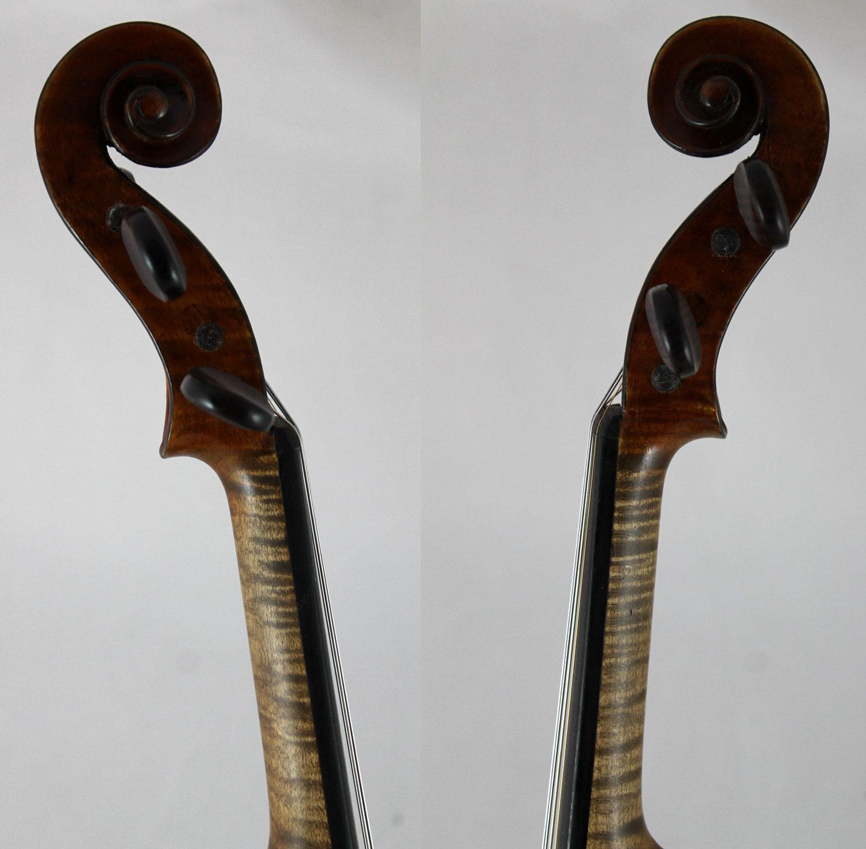 Raymond Collenot violin - scroll
