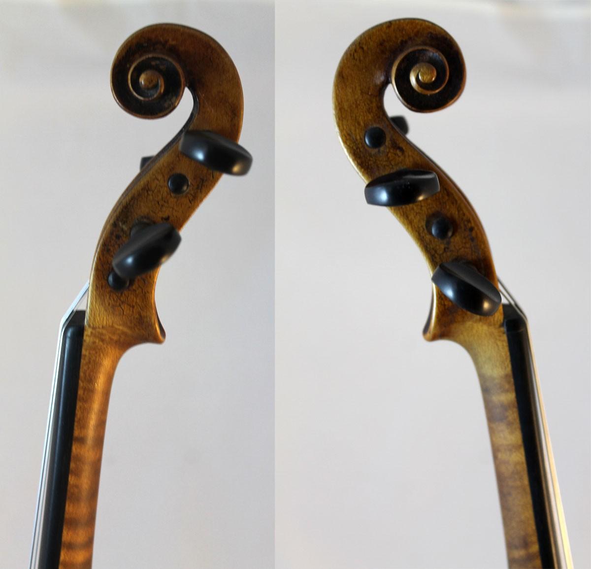 Amati violin for sale - scroll