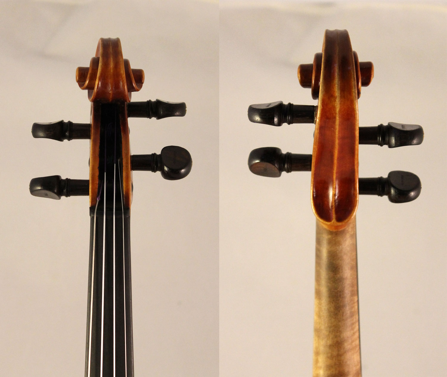 Ernst Heinrich Roth violin scroll
