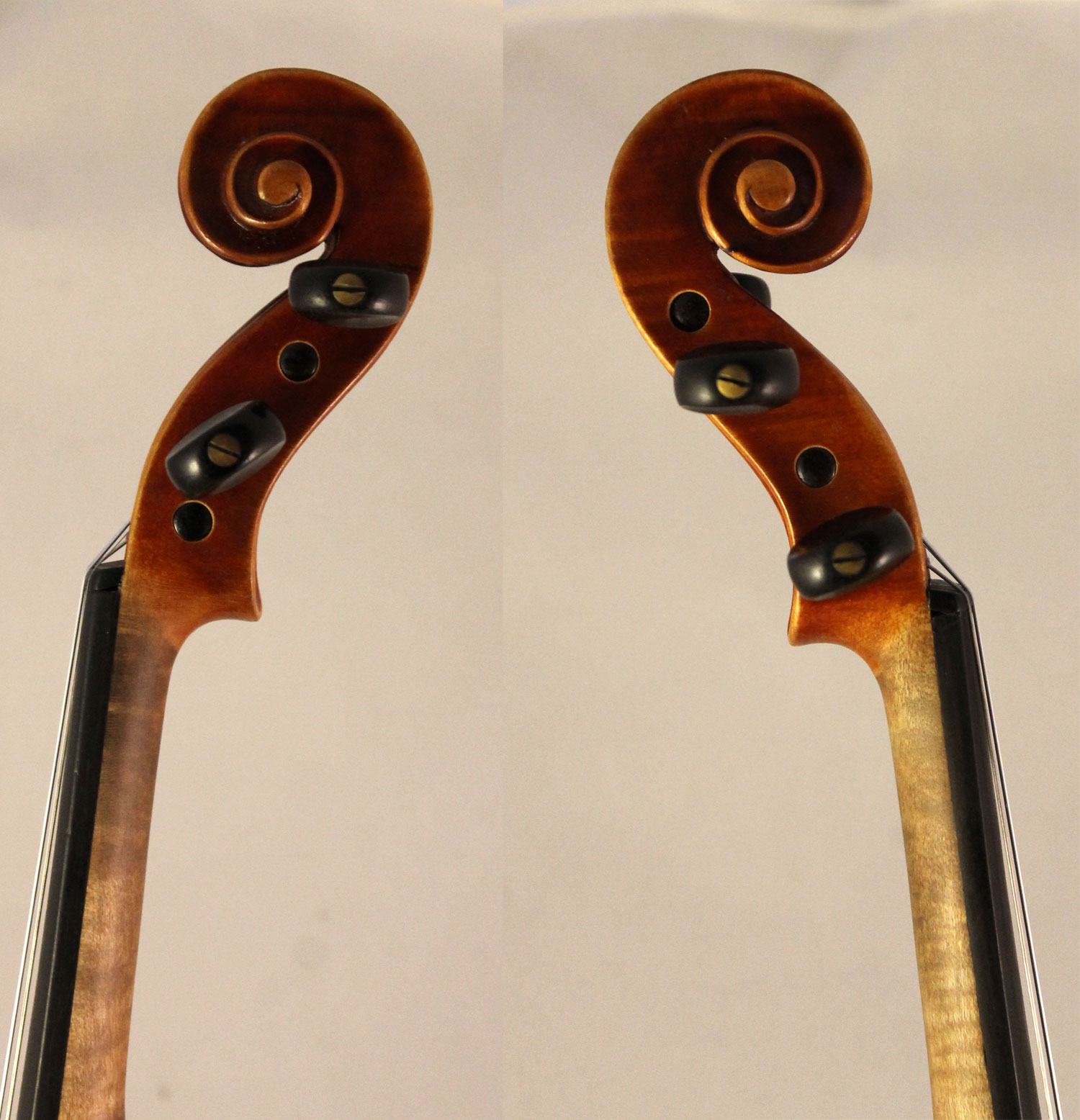Ernst Heinrich Roth violin scroll sides