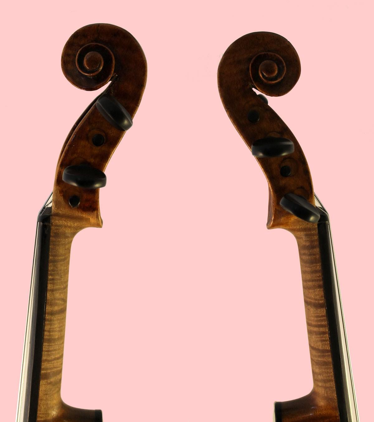 thomas perry violin scroll sides