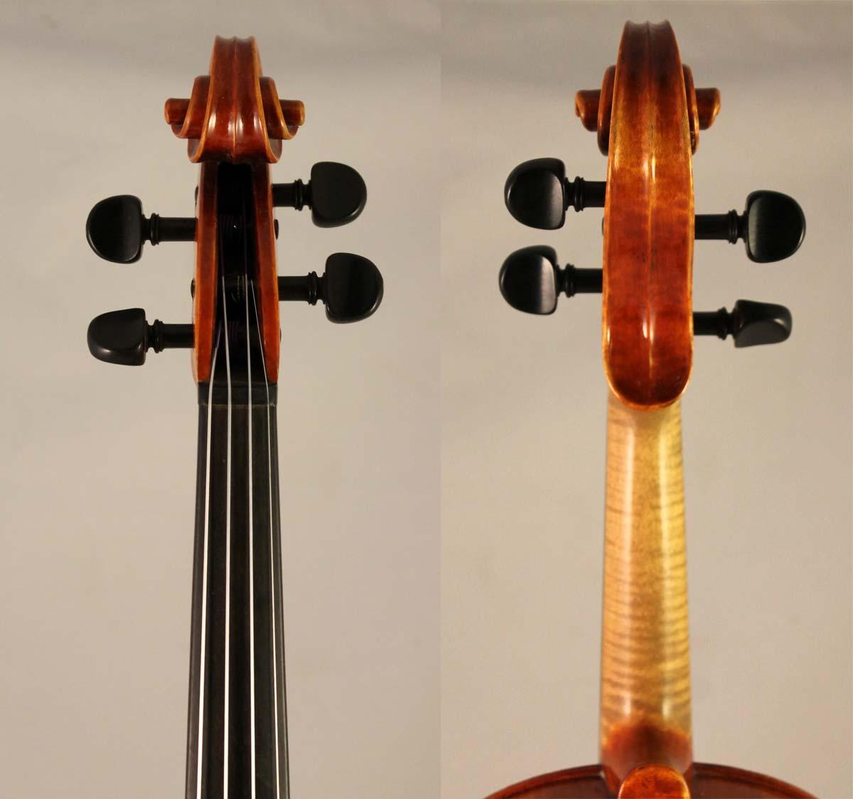 Rudolf Buchner Violin scroll