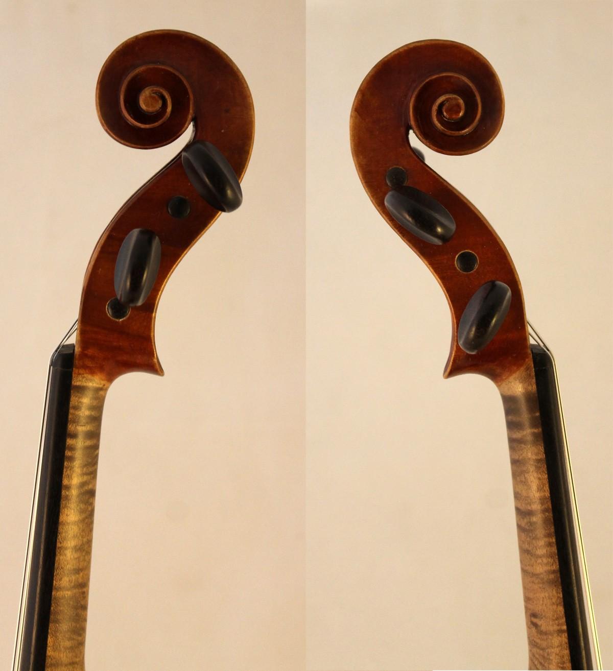 Collin-Mezin violin scroll