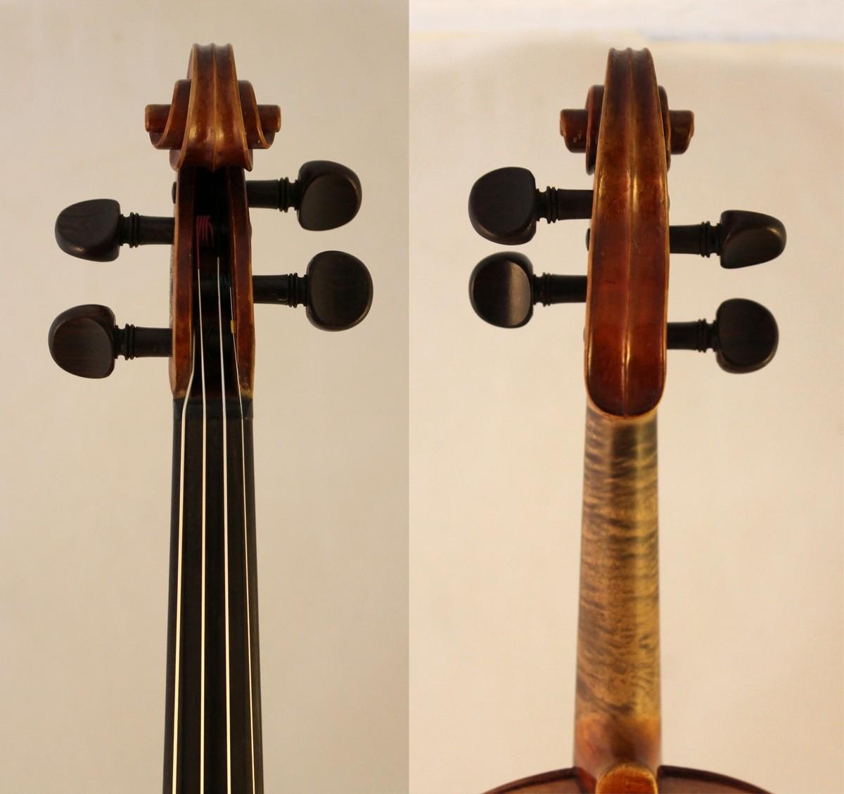 collin-mezin violin scroll front