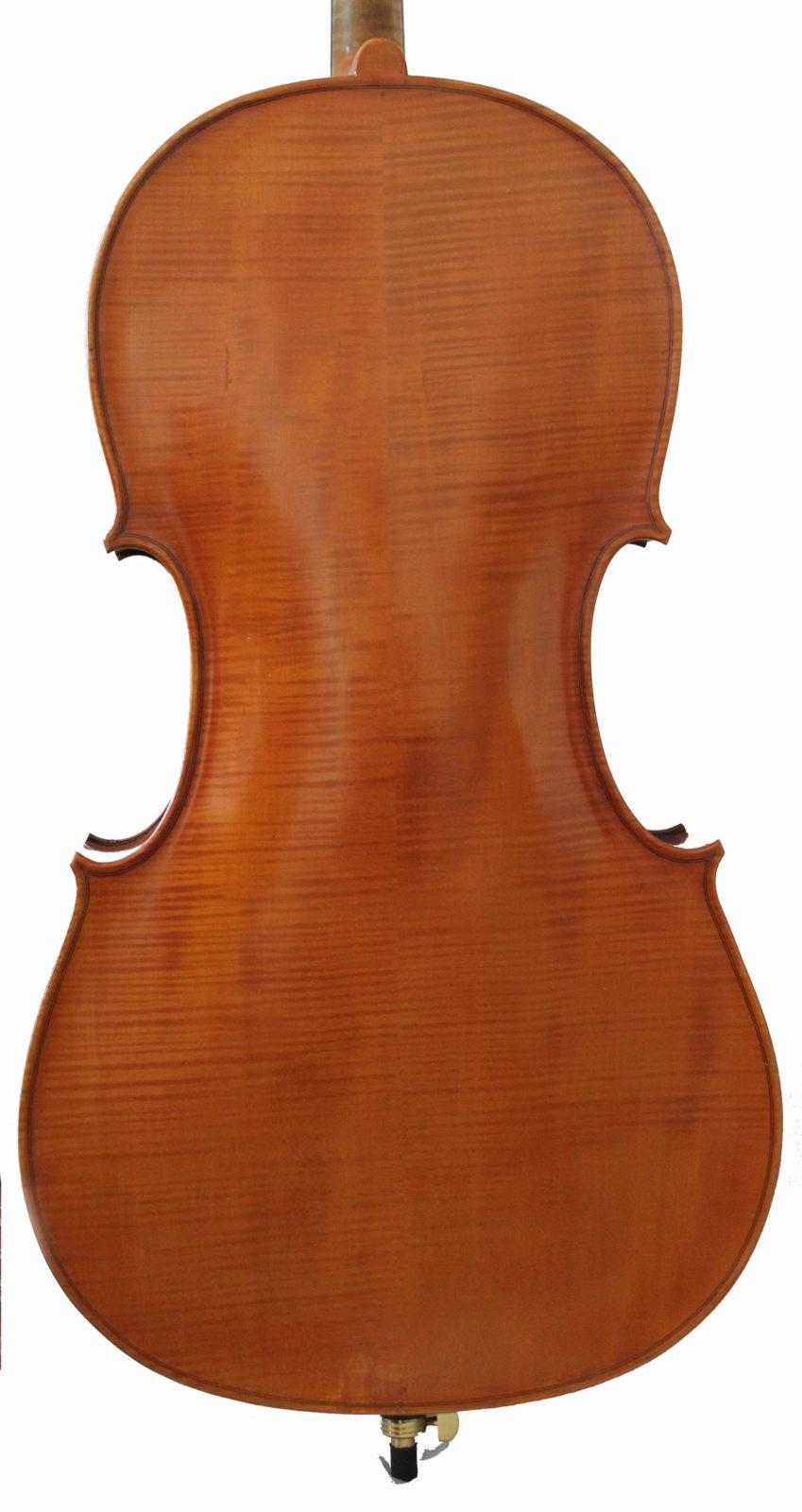 Enzo Bertelli cello - back