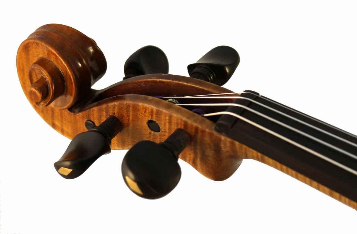 Luigi Digiuini Italian violin scroll angle