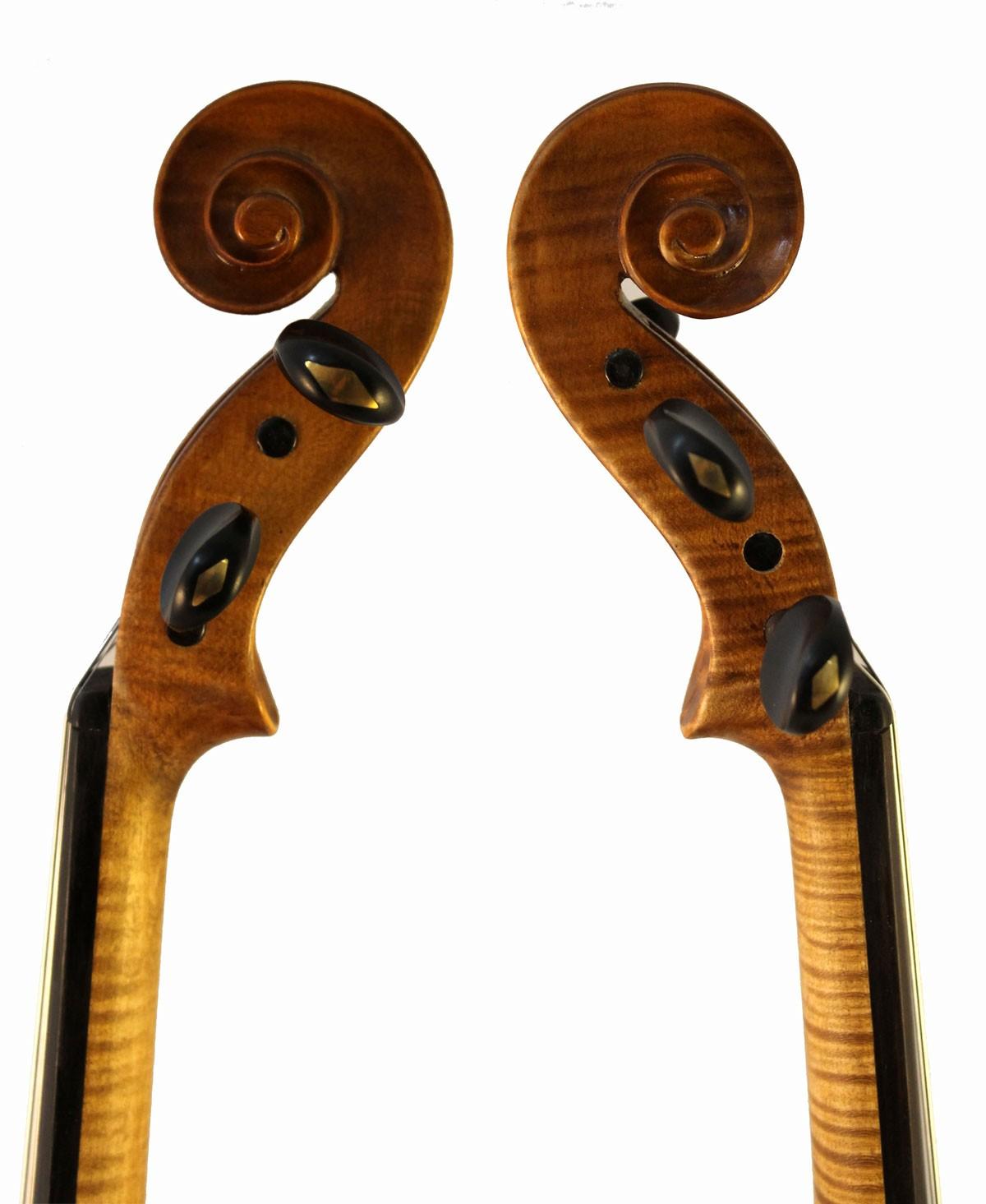Luigi Digiuini Italian violin scroll