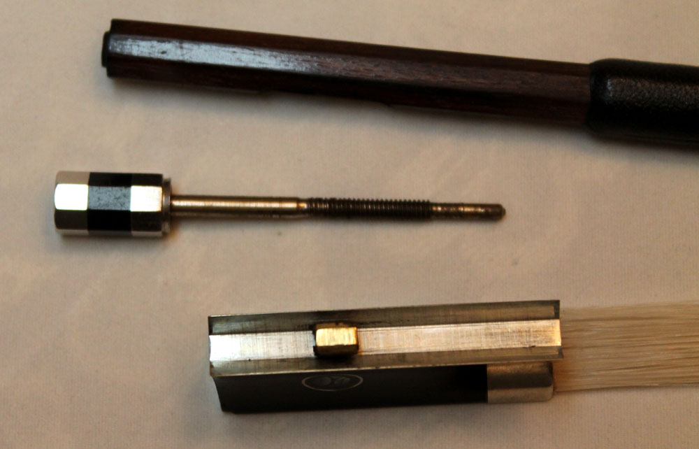 violin bow - with screw removed