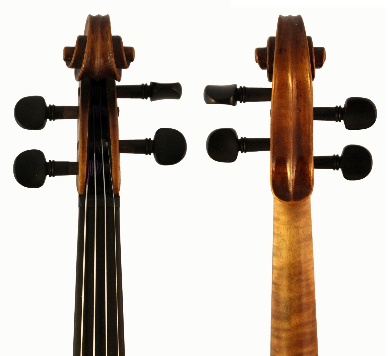 Roth Lederer violin scroll