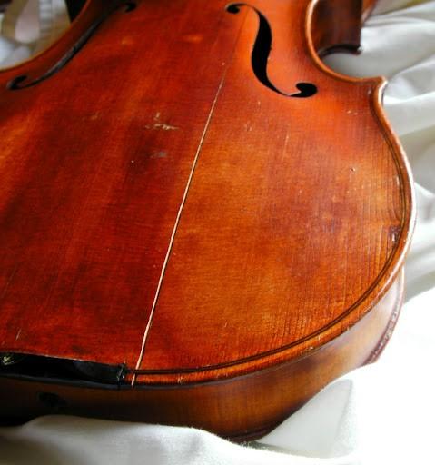 violin care - split top