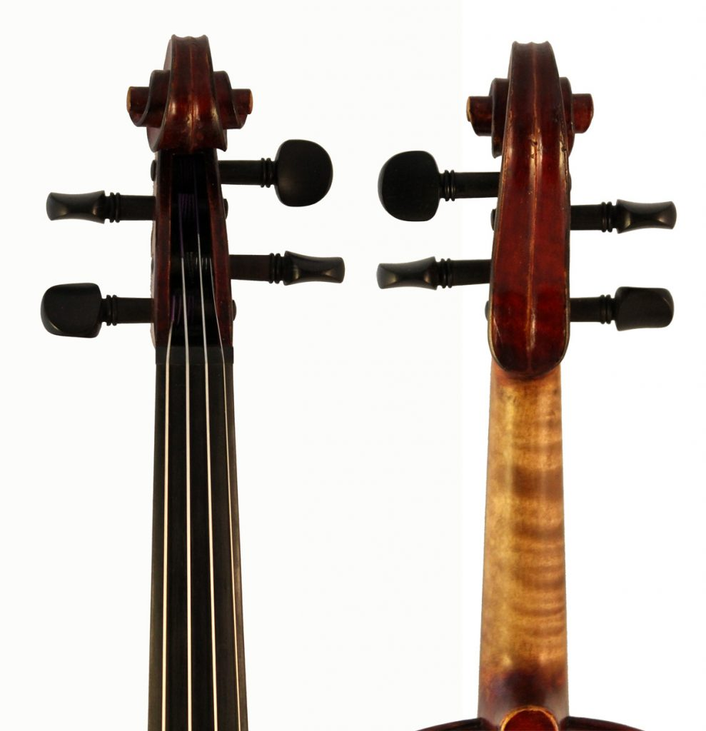 amati mangenot violin scroll