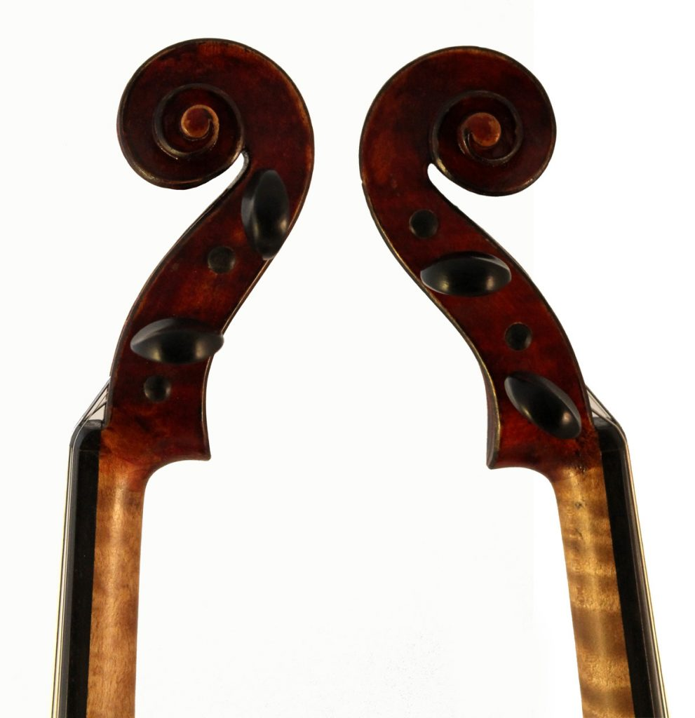 amati mangenot violin scroll sides