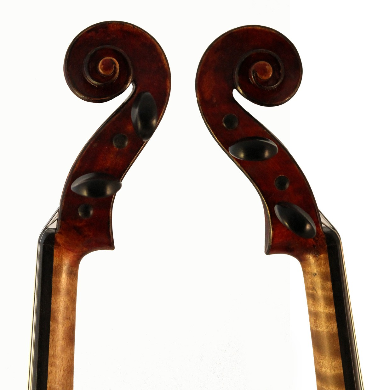 amati mangenot violin scroll sides