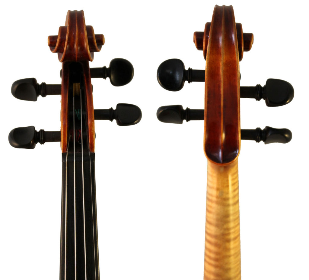 Roman Teller violin scroll