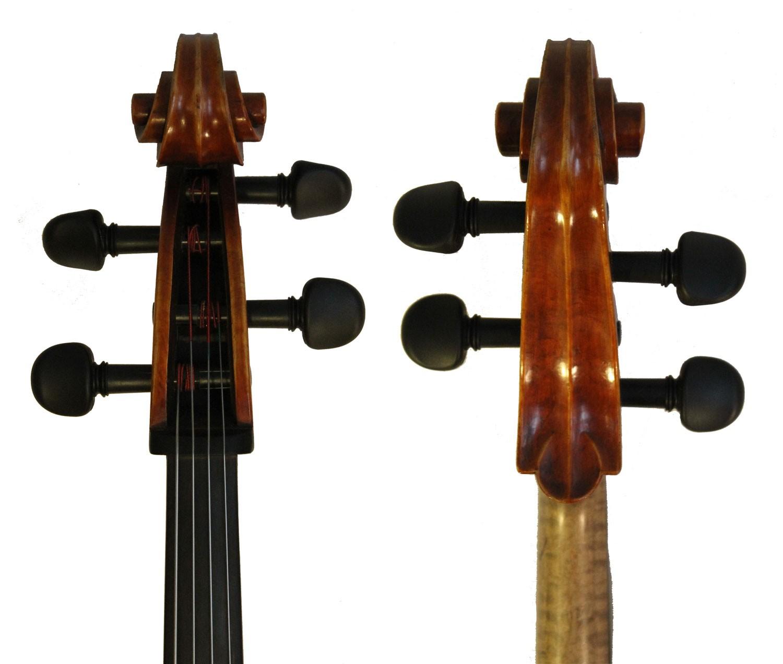 Leon Mougenot Gauche Cello - scroll