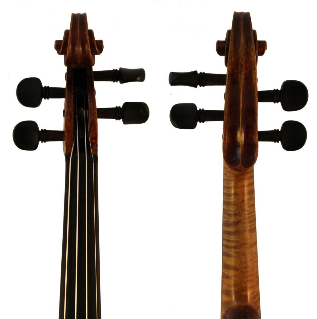 Albin O Schmidt violin scroll