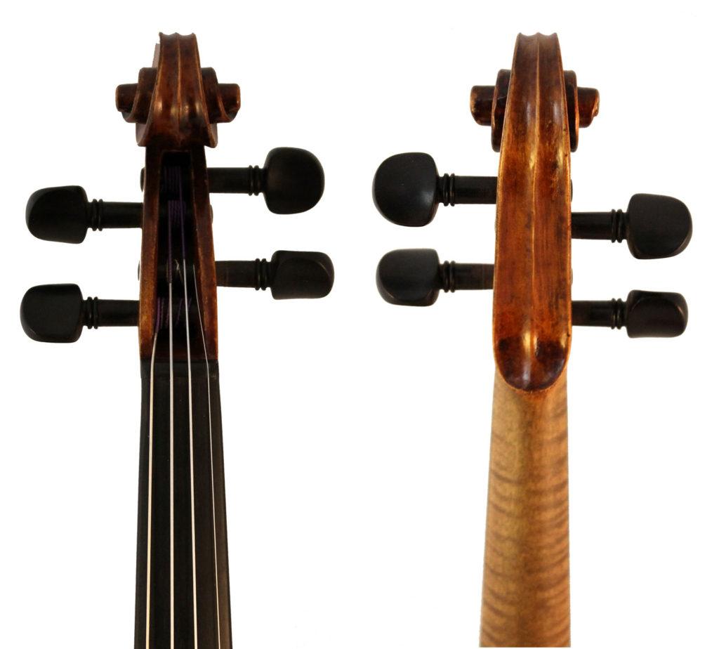 george l dykes violin scroll