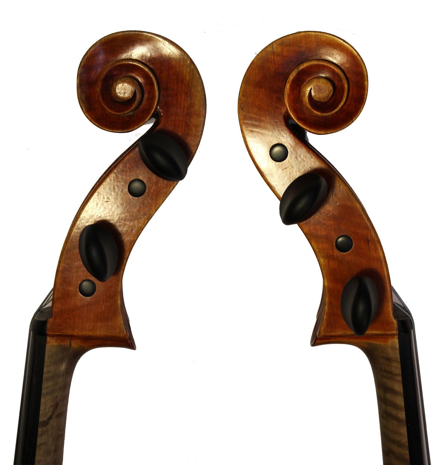 Leon Mougenot Gauche Cello - scroll sides
