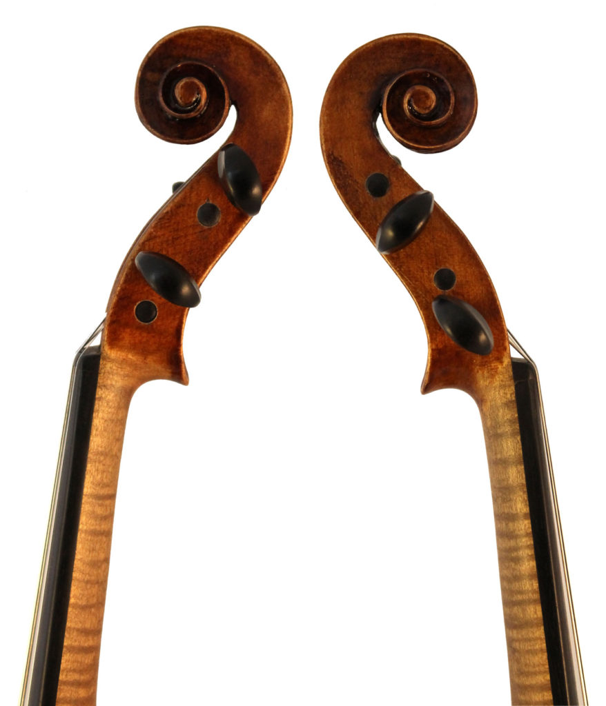 george l dykes violin scroll sides
