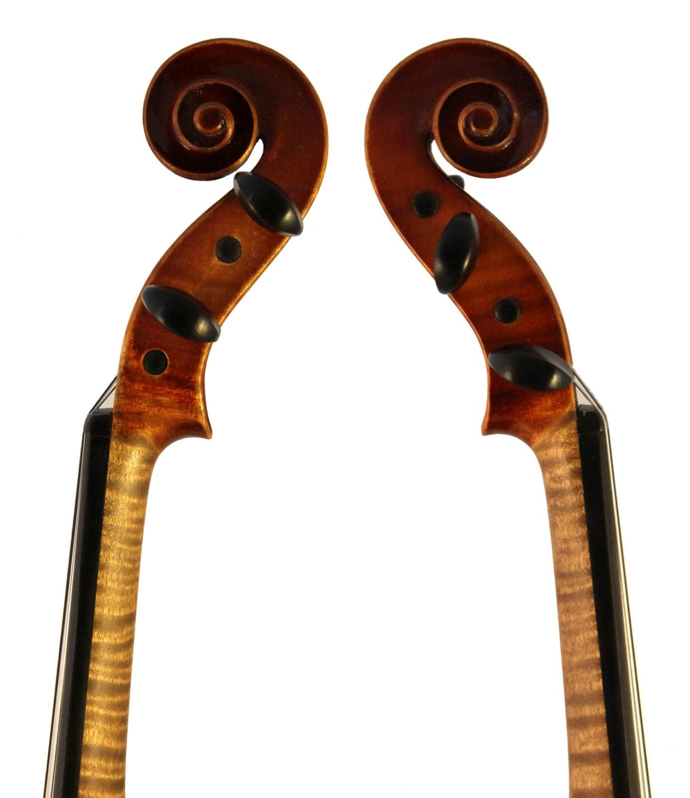 eugen meinel violin scroll sides