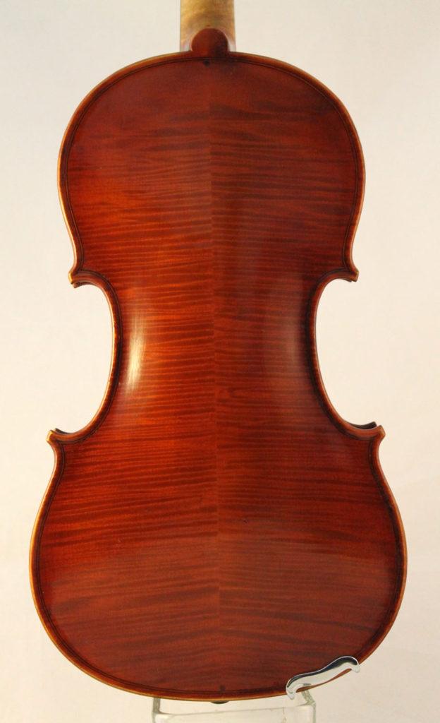 Sebastien Auguste Deroux violin back