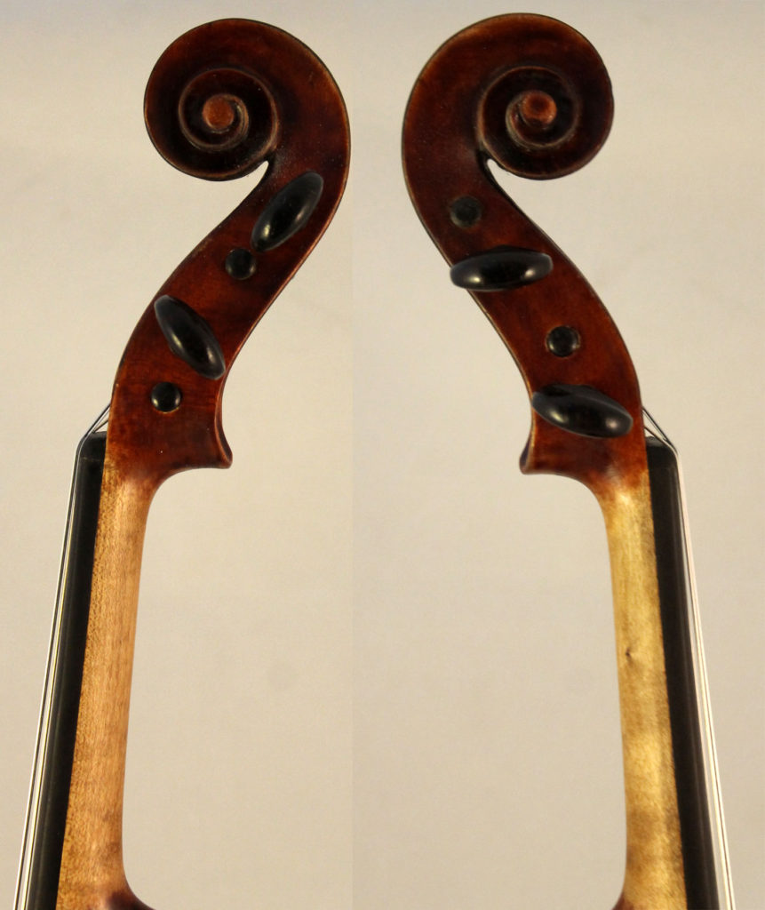 french violin collin-mezin scroll